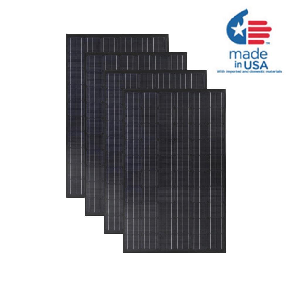 300-Watt Monocrystalline Solar Panel (4-Pack)