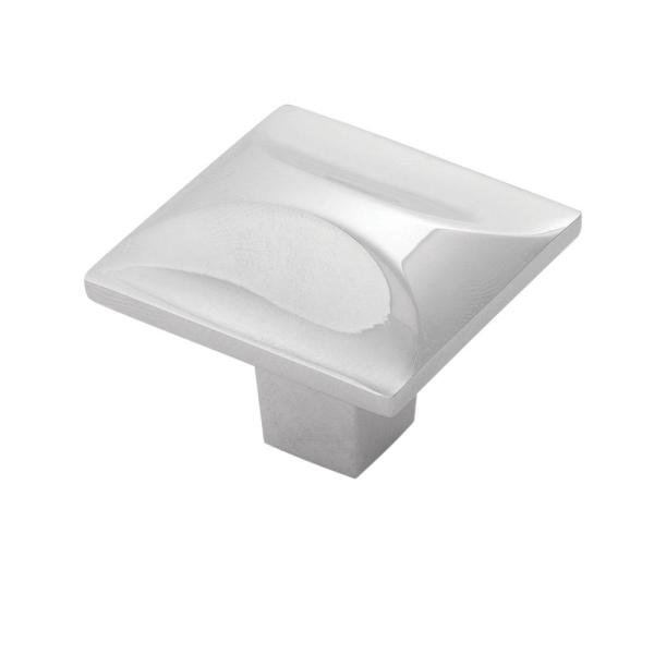 Crest Collection 1-1/4 in. Dia Chrome Finish Cabinet Drawer/Door Knob