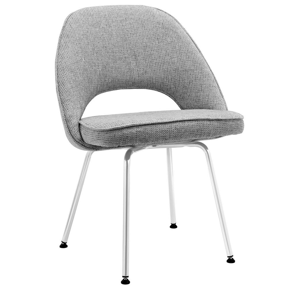 MODWAY Cordelia Light Gray Dining Fabric Side Chair