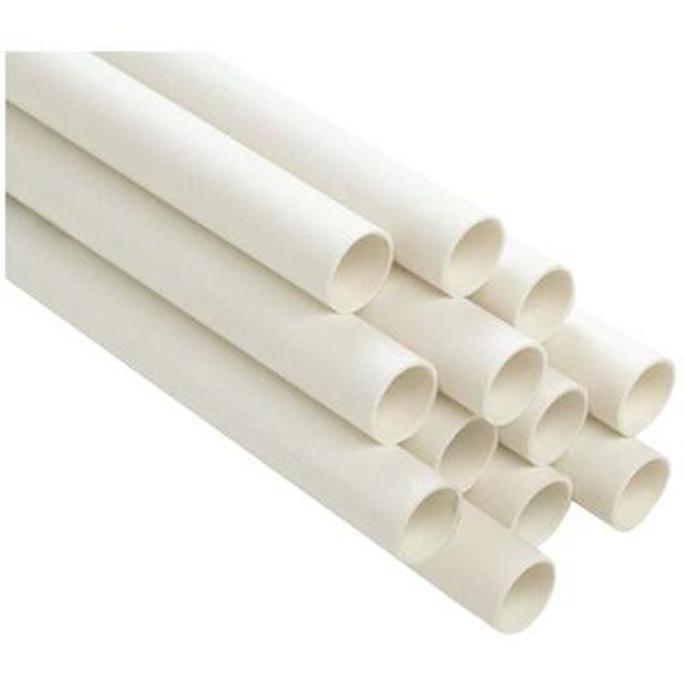 PVC Schedule 40 Pressure Pipe, 1-1/2 in. x 10 ft., Plain End