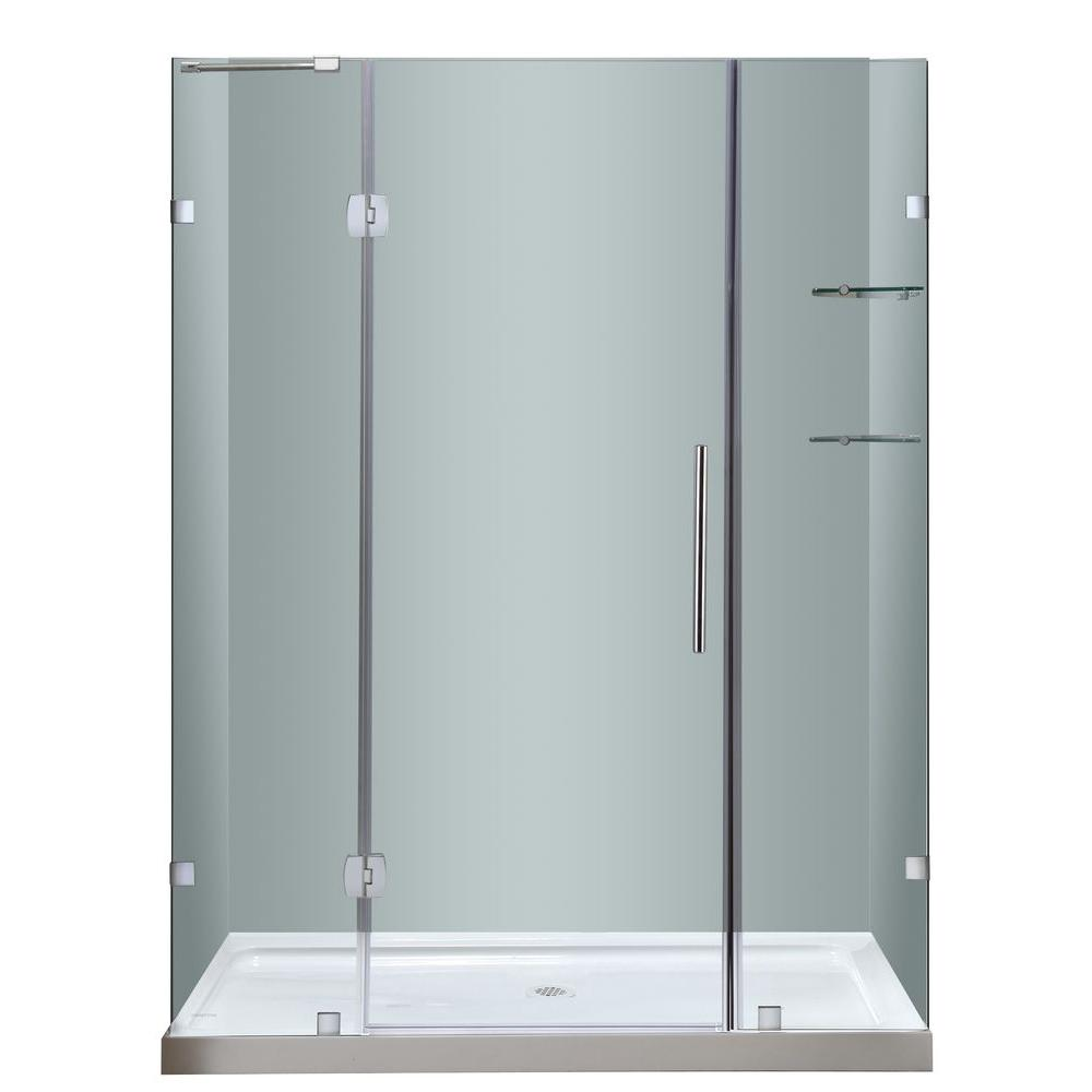 Aston Soleil 60 in. x 77-1/2 in. Frameless Hinge Shower Door in ...