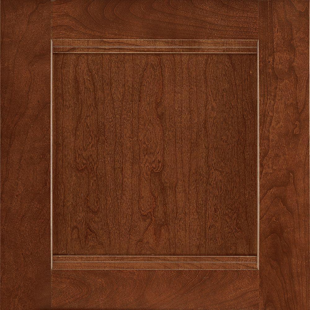 American Woodmark 14-1/2x14-9/16 in. Cabinet Door Sample in Del Ray Cherry Spice