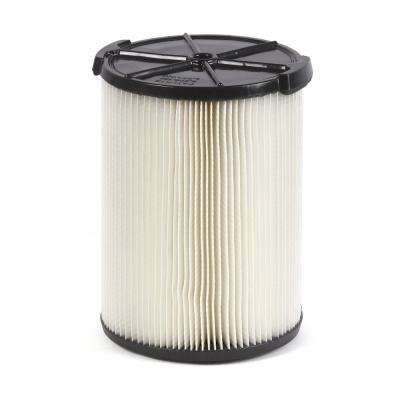1-Layer Everyday Dirt Pleated Paper Filter for 5.0+ Gal. for RIDGID Wet Dry Vacs
