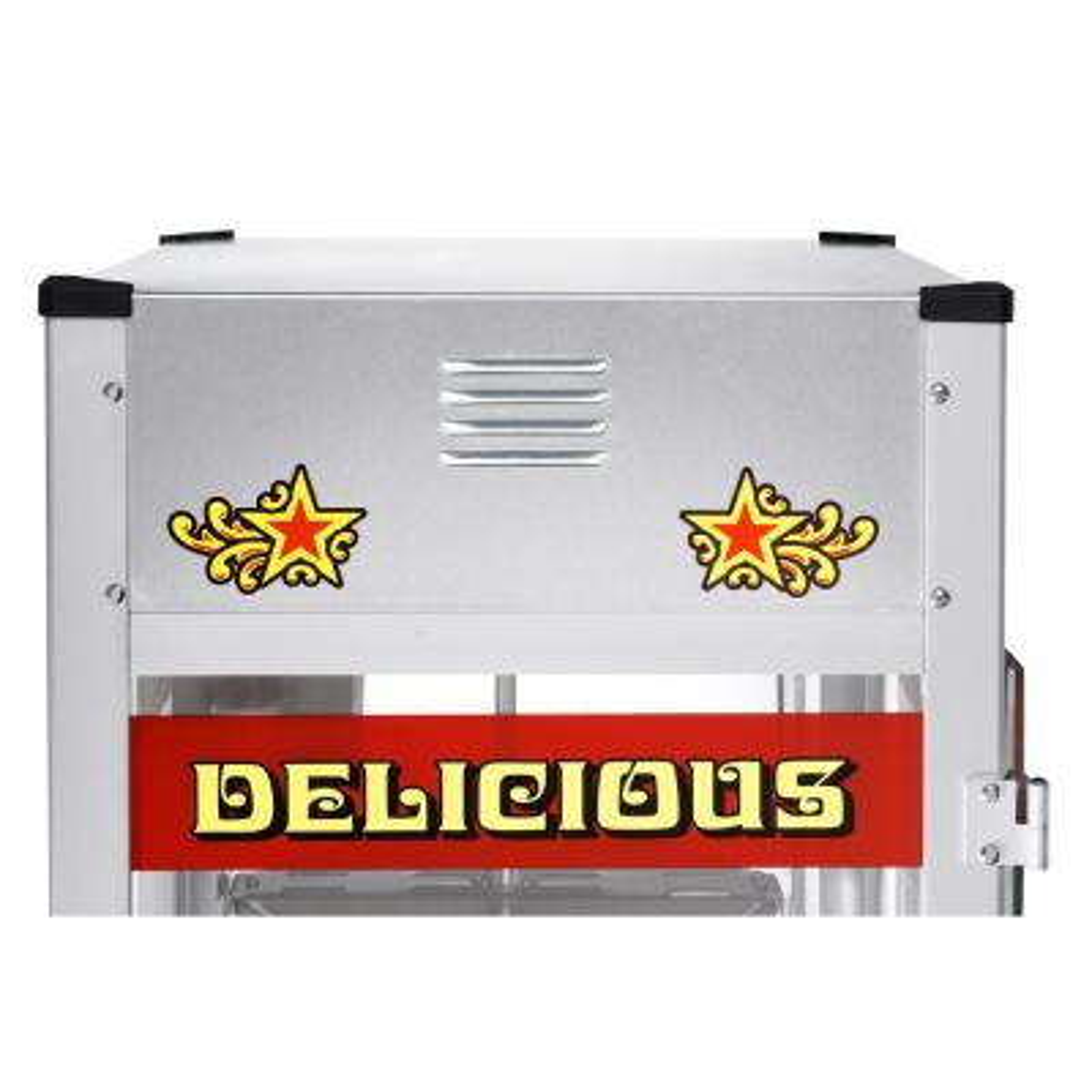 Great Northern-Top Star 12 oz. Silver Countertop Popcorn Machine
