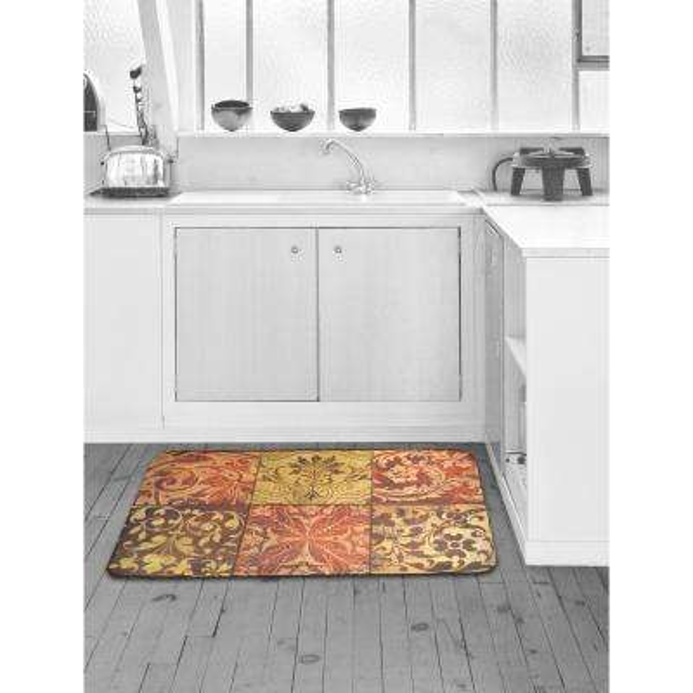 Designer Chef Red Mosaic 24 in. x 36 in. Anti-Fatigue Kitchen Mat