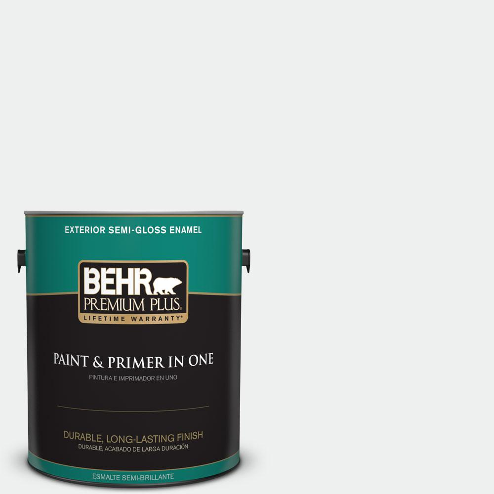 BEHR Premium Plus 1 gal. #57 Frost Semi-Gloss Enamel Exterior Paint