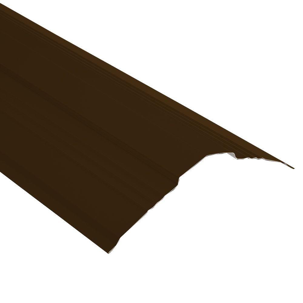 10.5 ft. x 5 in. Chestnut Brown Steel Universal Ridge Cap
