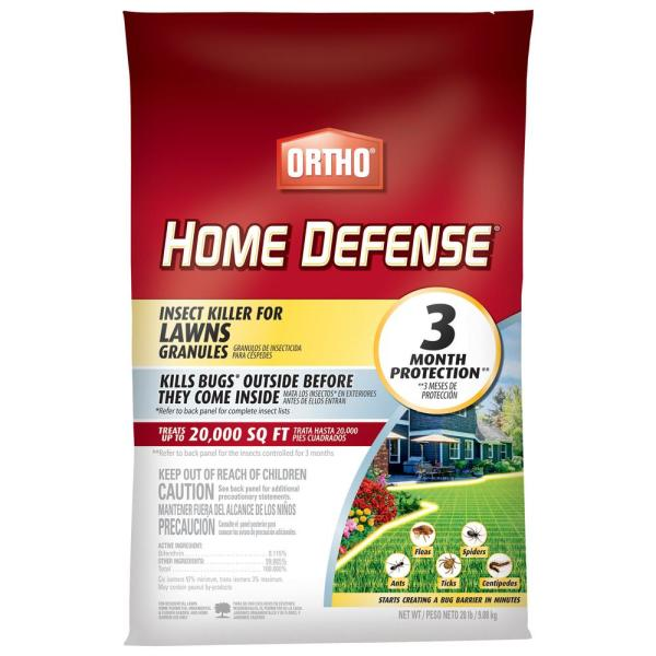 Home Defense 20 lbs. Insect Killer for Lawns Granules