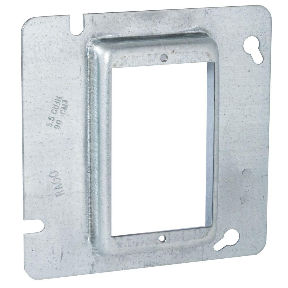 RACO 4-11/16 in. Square Single Device Mud Ring, 3/4 in. R...