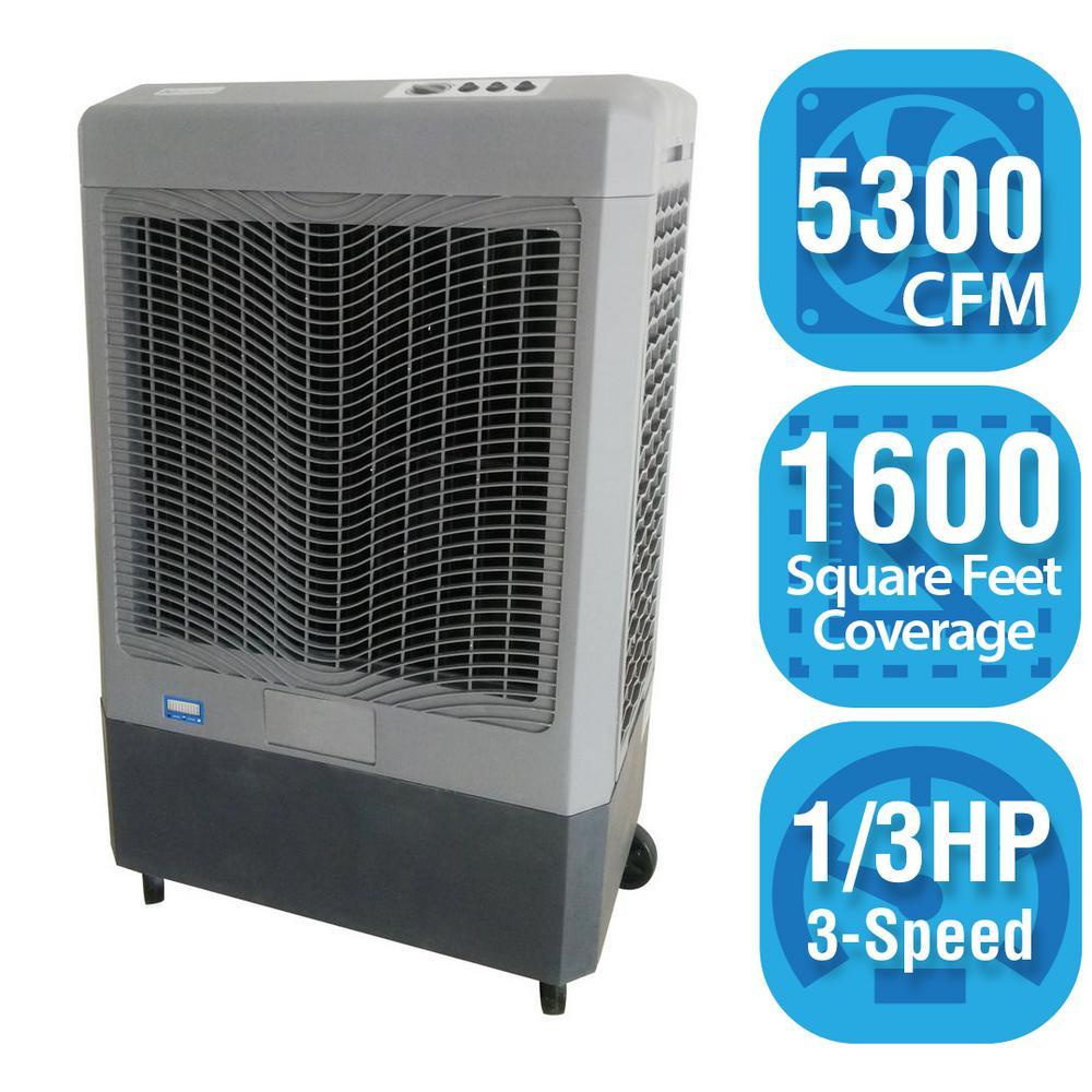Portable Evaporative Coolers : Hessaire cfm speed portable evaporative cooler for