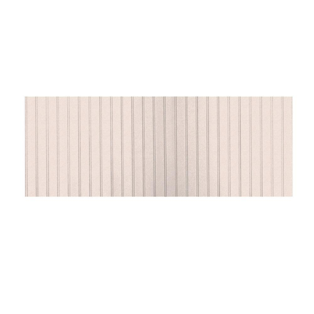 Swanstone 8 ft. x 3 ft. Beadboard One Piece Easy Up Adhesive Wainscot in Tahiti Rose-DISCONTINUED
