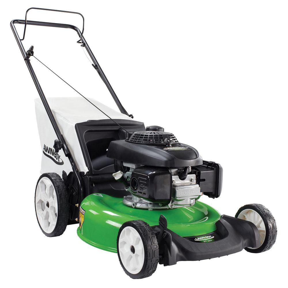 lawn boy   honda engine high wheel push walk  gas lawn mower   home depot