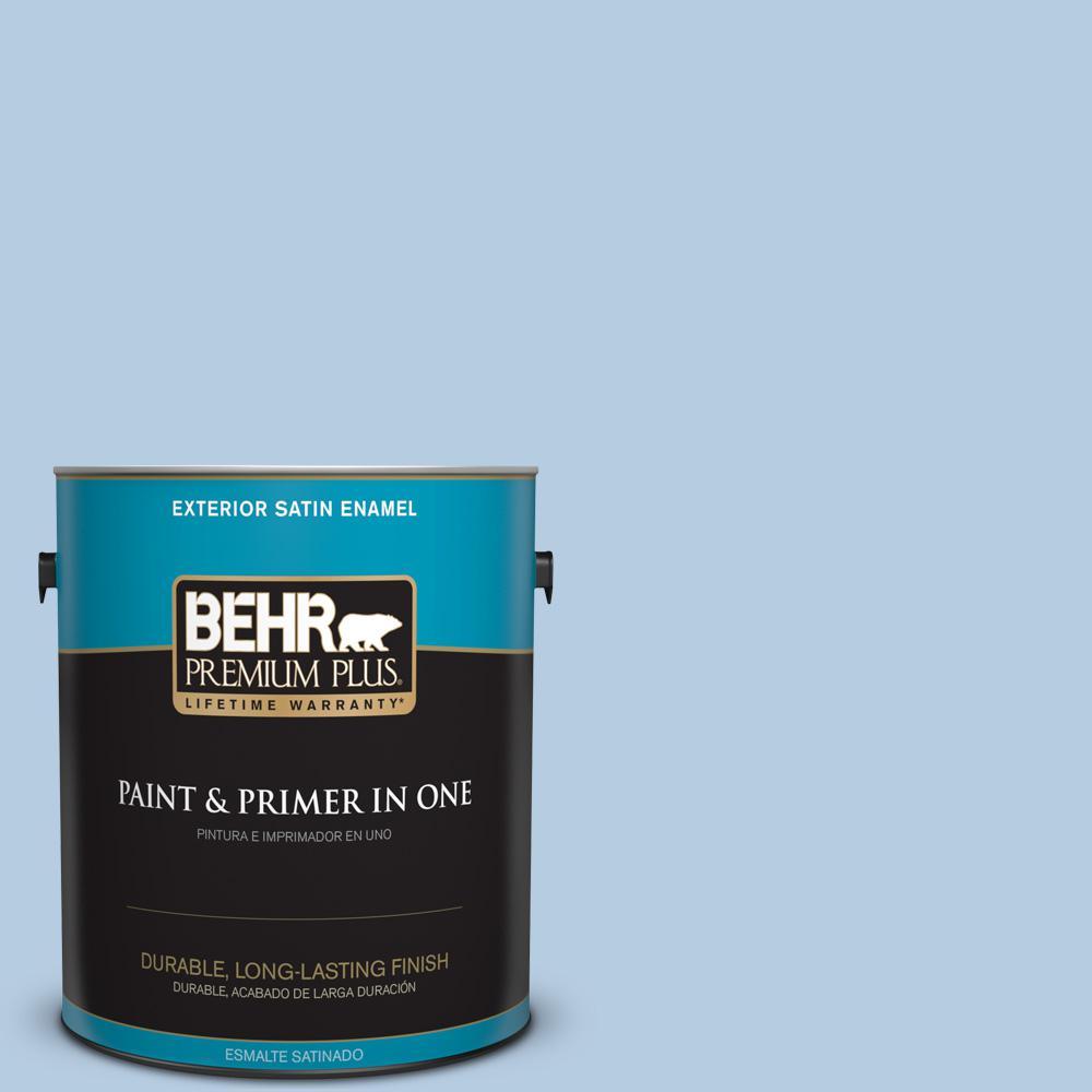 1 gal. #PPU14-14 Crystal Waters Satin Enamel Exterior Paint