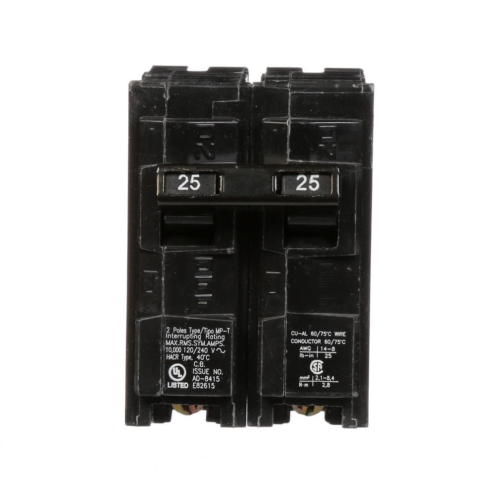 25 Amp Double-Pole Type MP Circuit Breaker