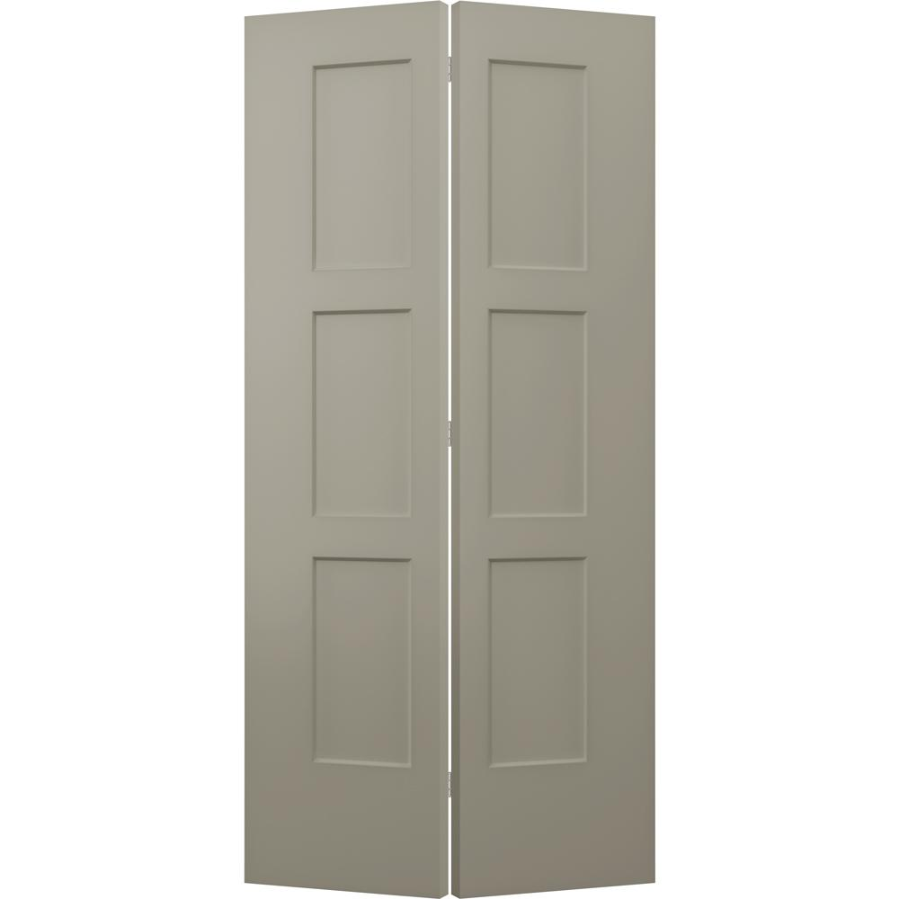 Jeld Wen 36 In X 80 In Birkdale Desert Sand Paint Smooth Hollow Core Molded Composite Interior Closet Bi Fold Door Thdjw235300040 The Home Depot