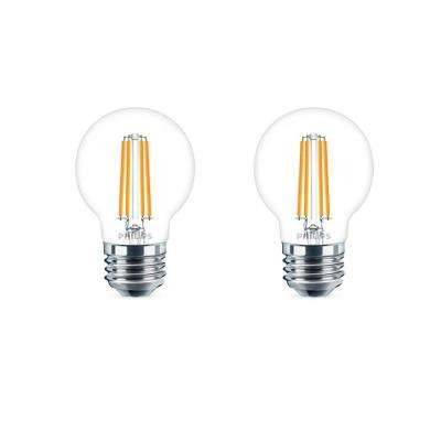 40-Watt Equivalent G16.5 Dimmable LED Light Bulb Soft White Globe (2-Pack)