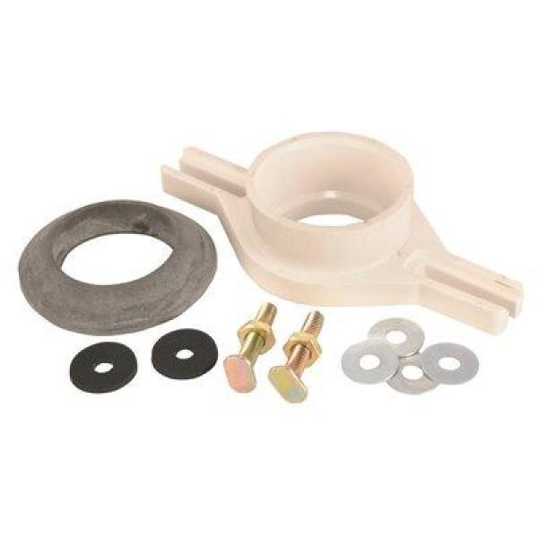 Jones Stephens 2 In Adjustable Pvc Urinal Flange Kit With Socket Hub Outlet F10002 The Home Depot