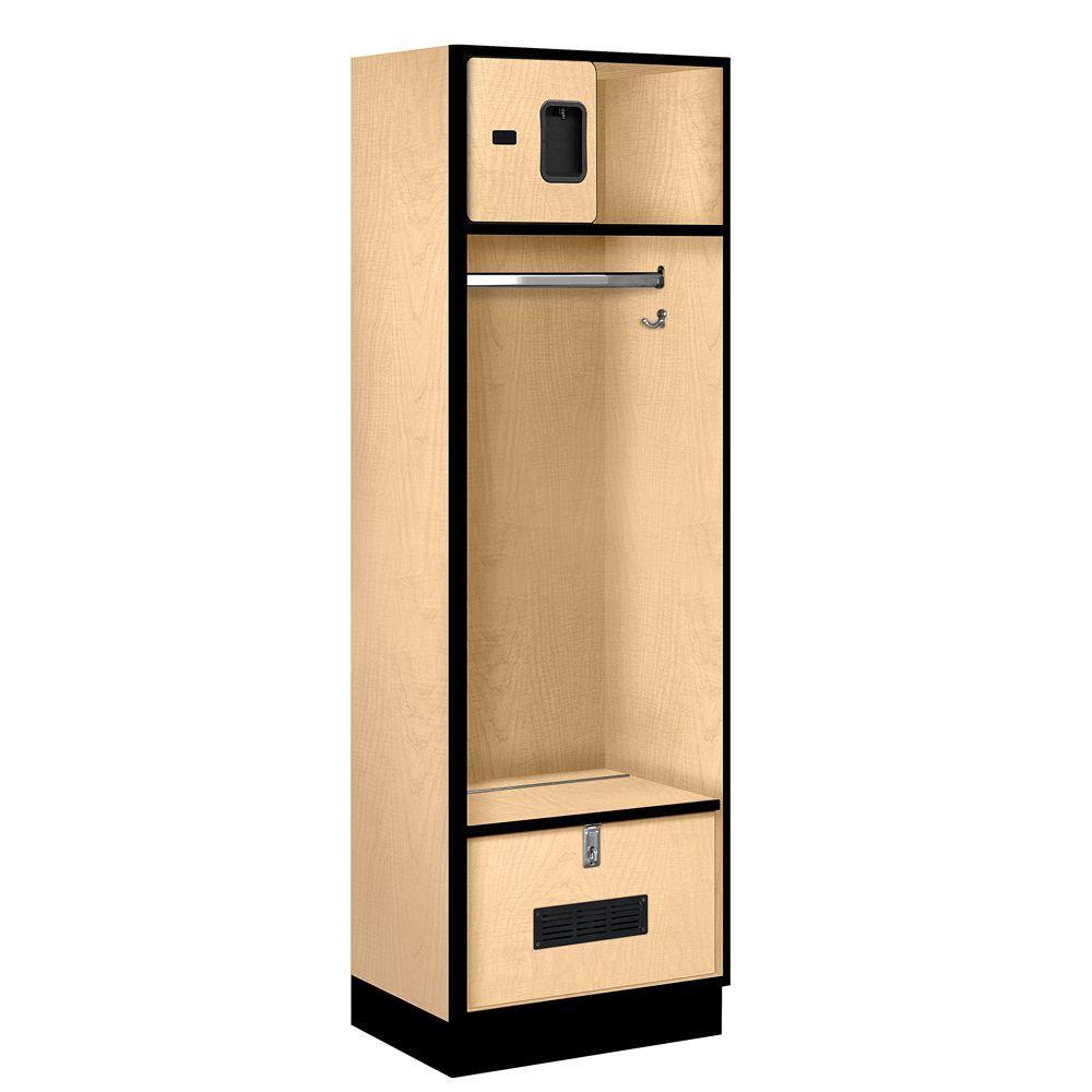 Salsbury Industries 30000 Series 24 in. W x 76 in. H x 18 in. D Open Access Designer Wood Locker in Maple