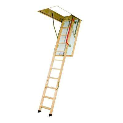 LTK 47 In. X 25 In. X 8.11 Ft. Wooden Thermo Attic Ladder