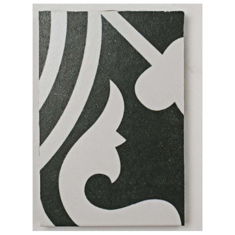 Arte Black Porcelain Floor and Wall Tile - 3 in. x