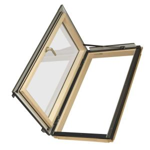 Fakro FWU-L Egress Window 22-1/4 in x 37-1/4 in. Venting Roof Access Skylight with Tempered Glass, LowE