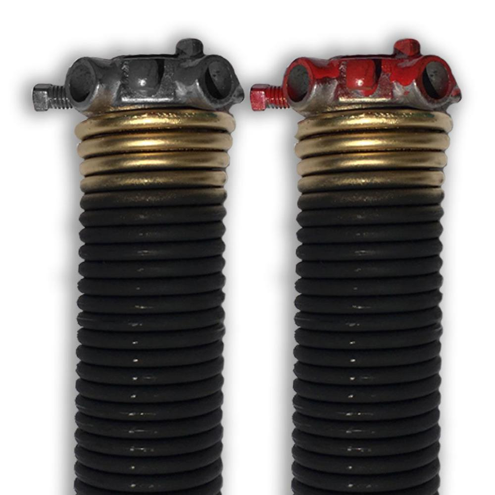 DURA-LIFT 0.250 in. Wire x 2 in. D x 35 in. L Torsion Springs in Gold Left and Right Wound Pair for Sectional Garage Door