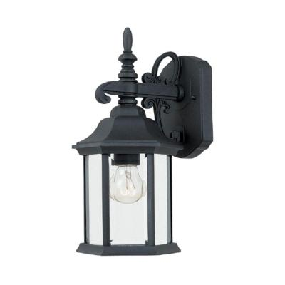 Erving Collection Black Outdoor Wall-Mount Lantern Sconce