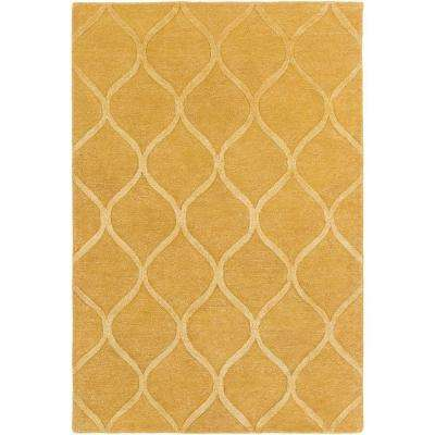 Urban Cassidy Gold 8 ft. x 10 ft. Indoor Area Rug