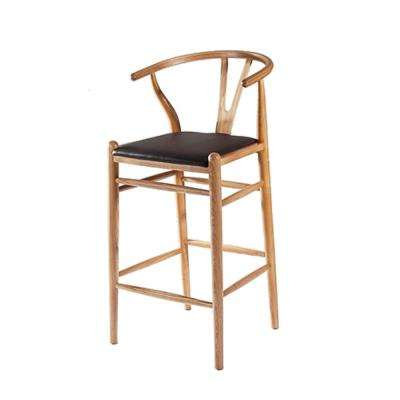 46 in. Natural Woodstring Bar Stool Chair
