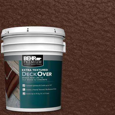 5 gal. #SC-117 Russet Extra Textured Solid Color Exterior Wood and Concrete Coating