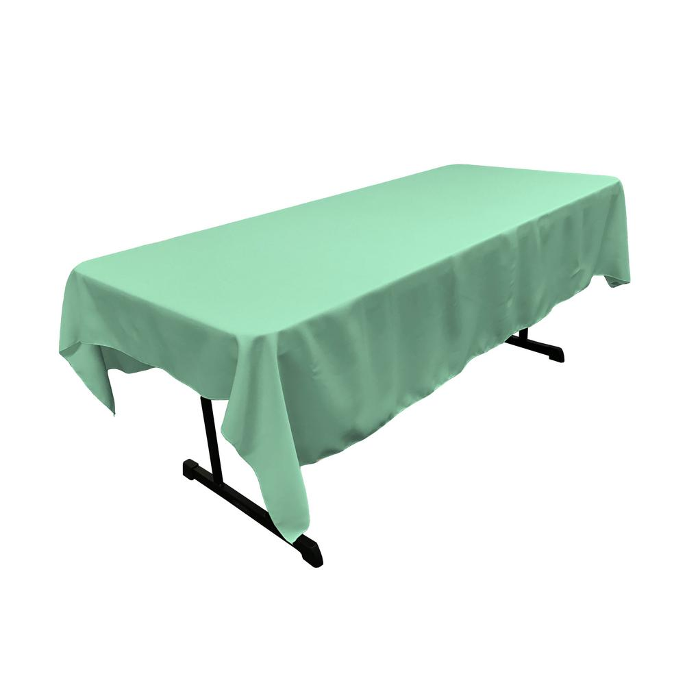 La Linen 60 In X 84 Mint Polyester Poplin Rectangular Tablecloth
