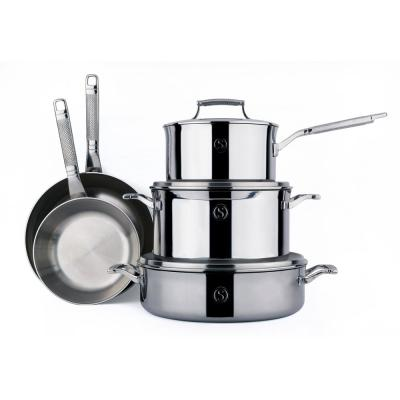 SAVEUR SELECTS Tri-Ply Stainless Steel Cookware Set (8-Piece)