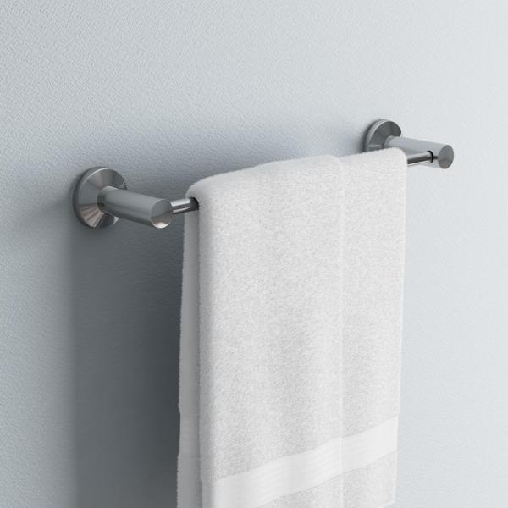 Paradise Bathworks Nirvana 24 In Towel Bar In Chrome 66226 The Home Depot