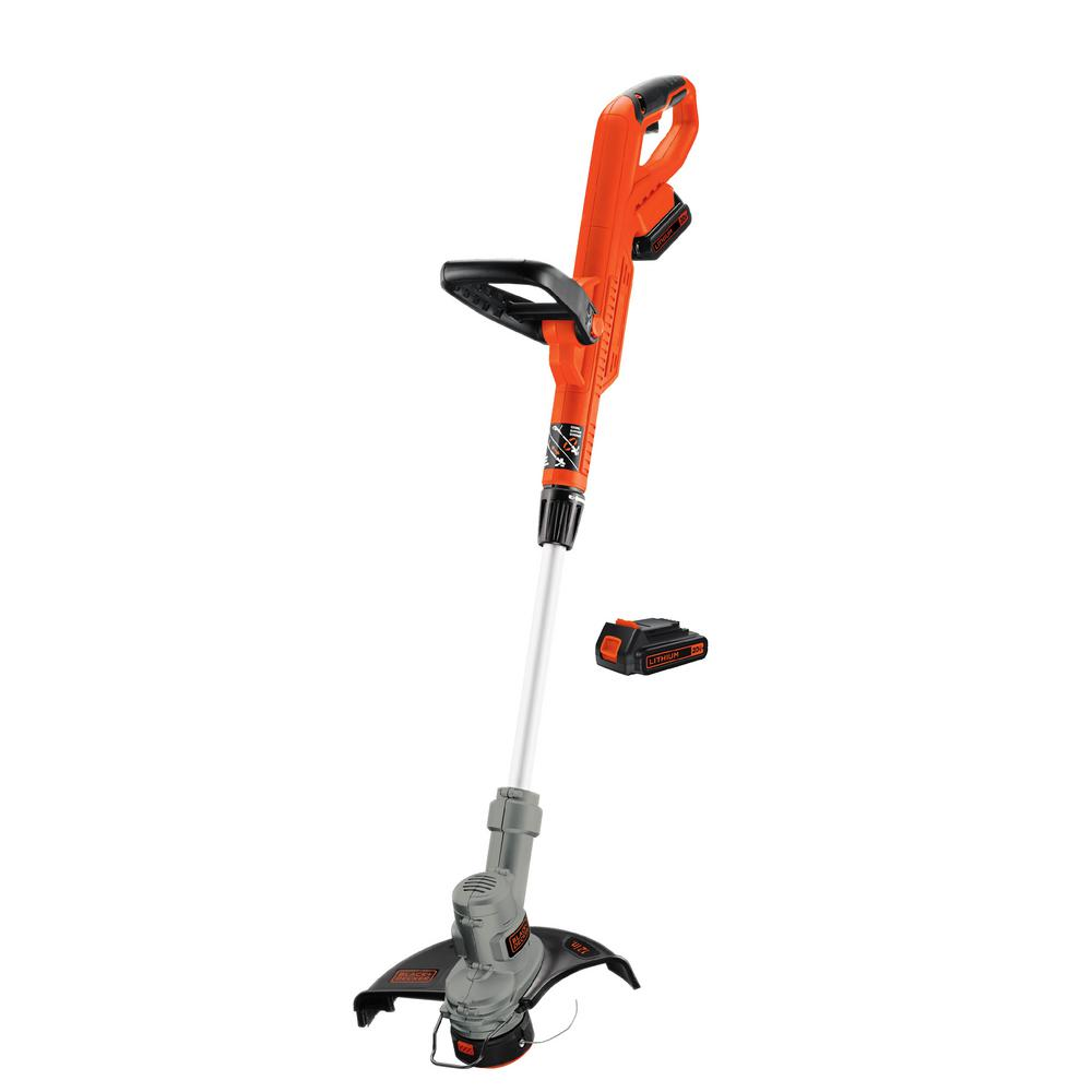 BLACK+DECKER 20-Volt Max Lithium Ion Electric Cordless 12 in  String  Trimmer/Edger