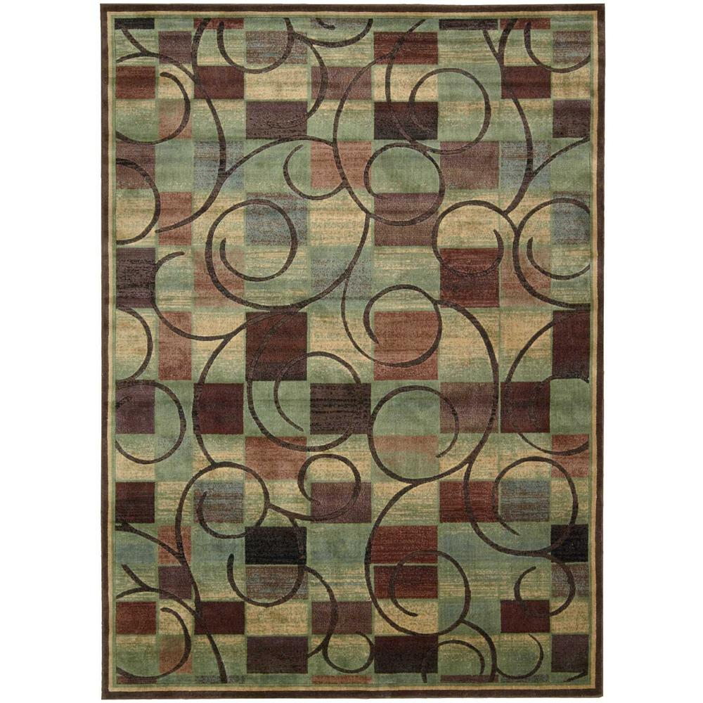 Nourison Expressions Brown 10 Ft X 13 Ft Area Rug 583789