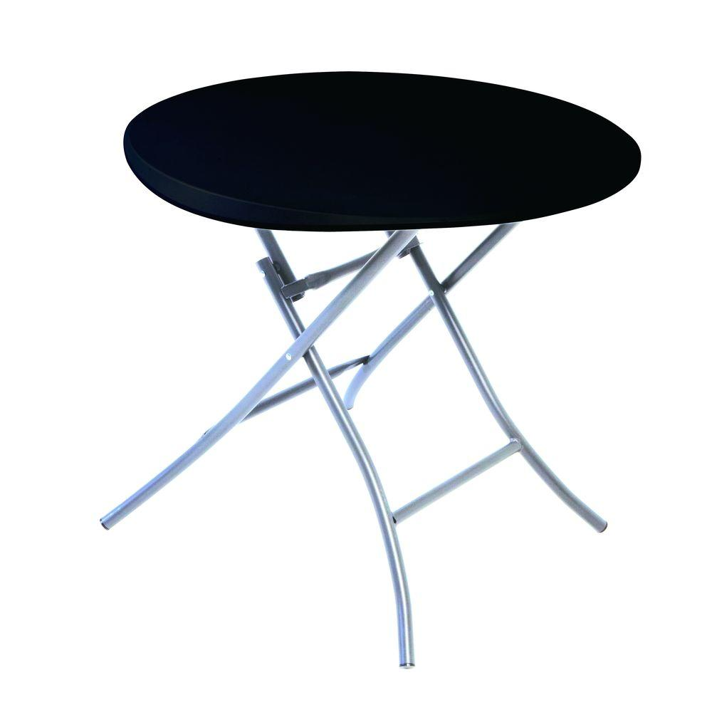 Lifetime Black Round Folding Table