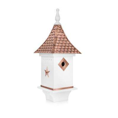 Villa Bird House White with Pure Copper Roof