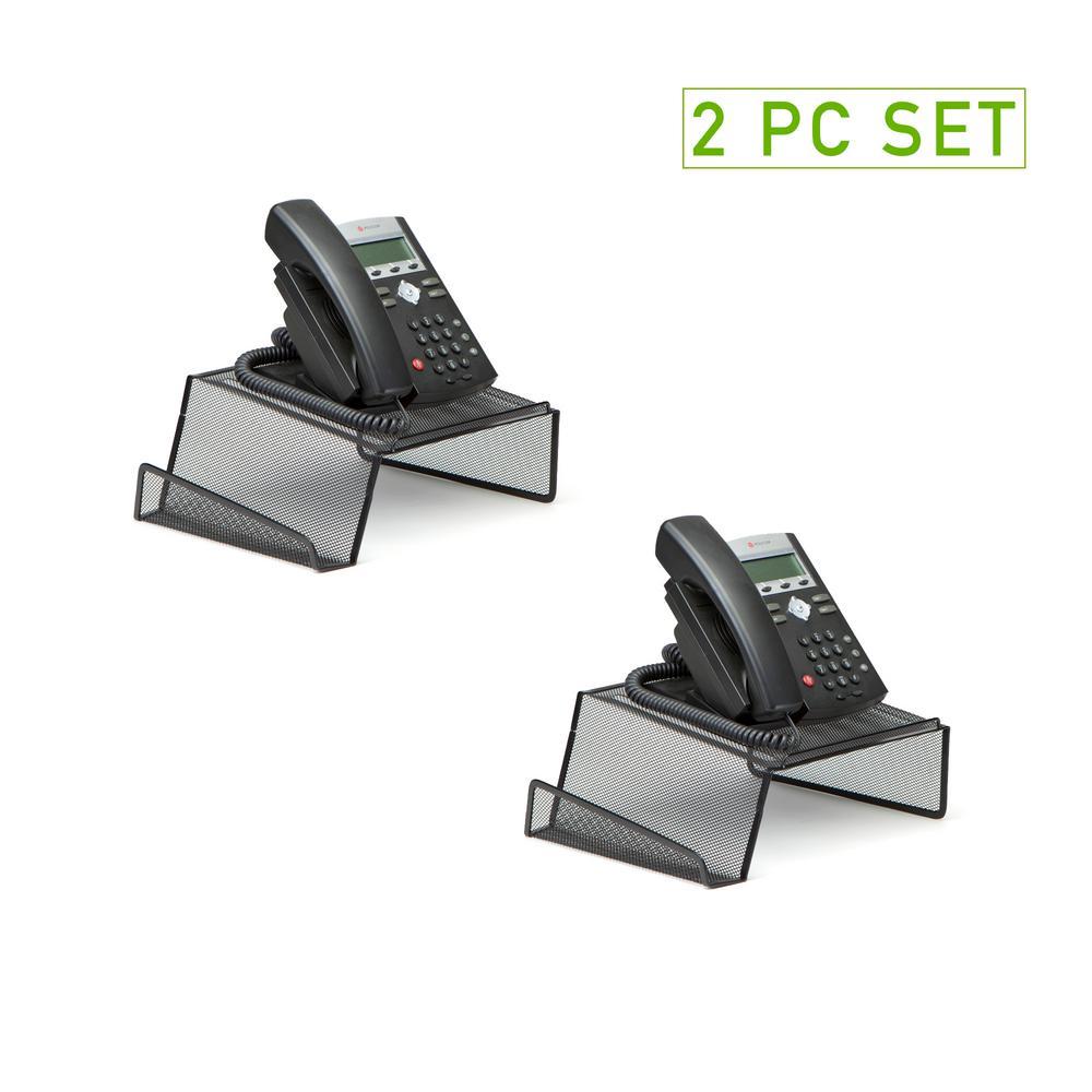 Metal Mesh Phone Stand, Black (2-Pack)