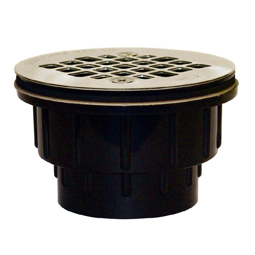 2 in black abs hub shower drain with strainer 825 2apk the home depot black abs hub shower drain with strainer publicscrutiny