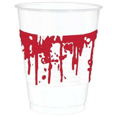4.5 in. x 3.75 in. Halloween Blood Splattered Cups (25-Count, 2-Pack)