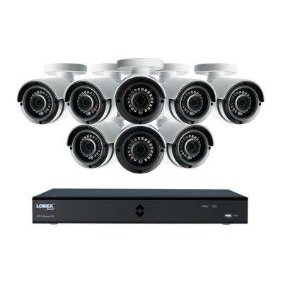 16-Channel SuperHD 4MP 2TB HDD Surveillance DVR System with 8 Indoor/Outdoor Wired Cameras and Remote View