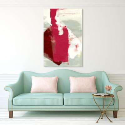 """""""Magenta Abstract 2"""" Frameless Free Floating Tempered Glass Panel Graphic Art Wall Art"""