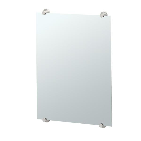Latitude II 22 in. x 32 in. Frameless Mirror in Satin Nickel