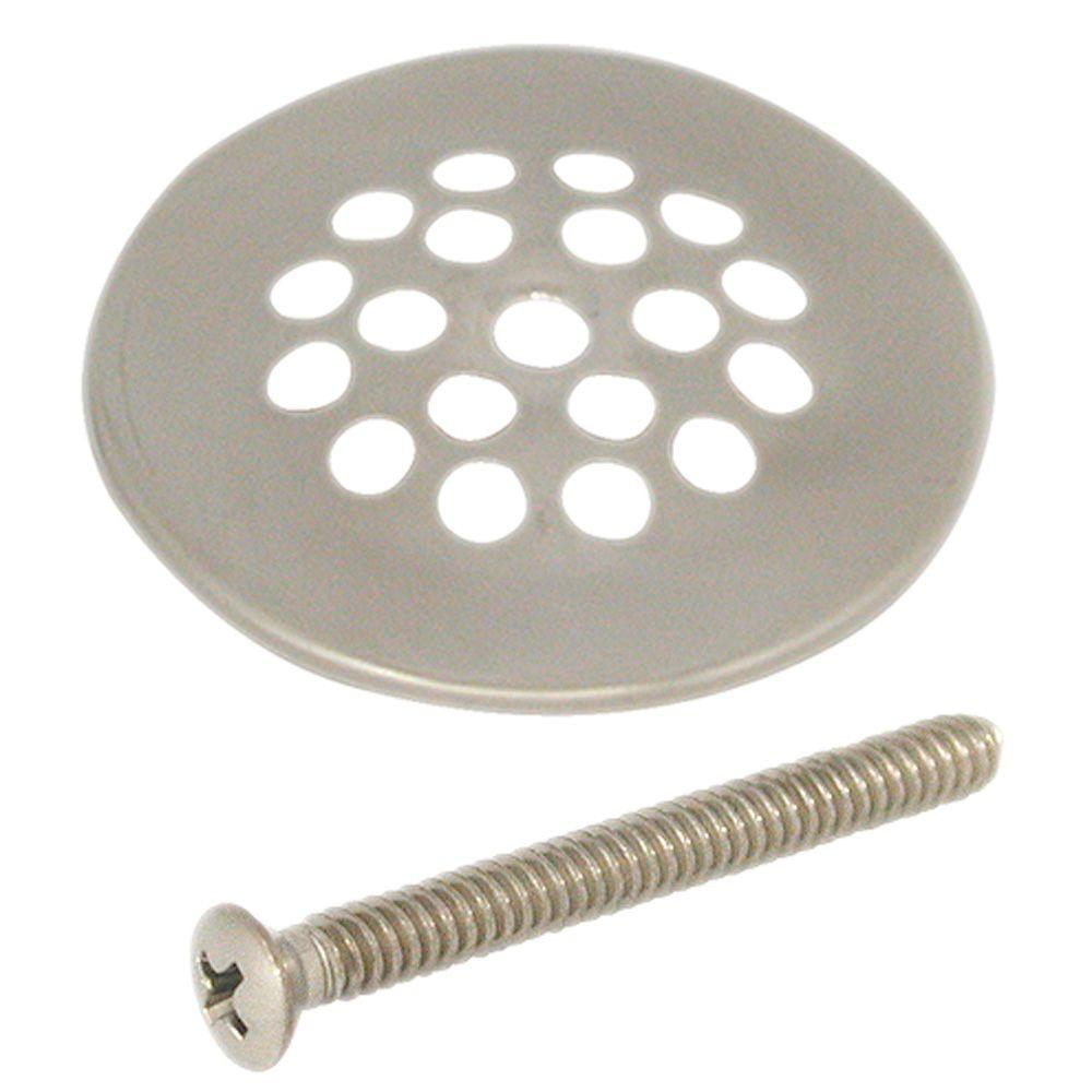 DANCO 2-7/8 in. Shower Drain Strainer in Brushed Nickel