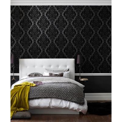 Kinky Vintage Black Removable Wallpaper