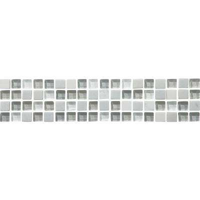 Sonoma Snow 3 in. x 12 in. x 8 mm Stone Glass Mesh-Mounted Mosaic Tile