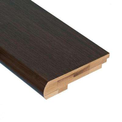Horizontal Black 9/16 in. Thick x 3-3/8 in. Wide x 78 in. Length Bamboo Stair Nose Molding
