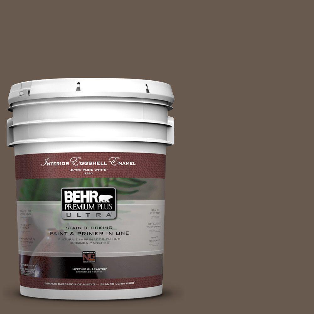 BEHR Premium Plus Ultra 5-gal. #PPU5-2 Aging Barrel Eggshell Enamel Interior Paint