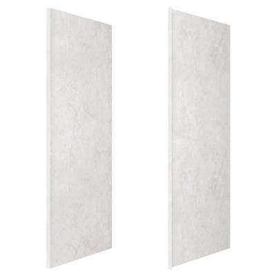 36 in. x 98 in. 2-Piece Glue-Up Alcove Side Shower and Bath Wall Set in Sand Granite