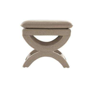 Valencia 19-1/2 in. Vanity Stool in Dark Beige